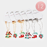 12PCS - Christmas Theme Assorted Necklaces