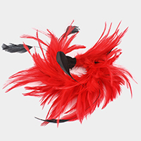 Feather Hair Pinch Clip Brooch Fascinator