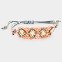 Boho Seed Beaded Adjustable Bracelet