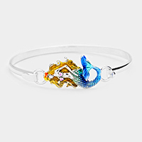 Enamel Mermaid Metal Hook Bracelet