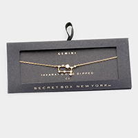 Secret Box _ CZ Zodiac Sign Taurus Charm Bracelet