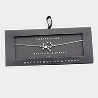 Secret Box _ CZ Zodiac Sign Sagittarius Charm Bracelet