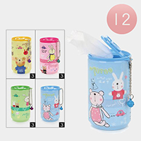 12-PCS - Cute Bunny Bell Can Wet Wipes