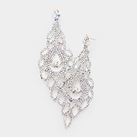 Crystal Round Rhinestone Pave Evening Earrings