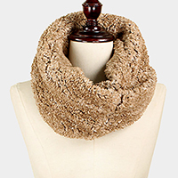 Twisted Fur Tube Infinity Scarf