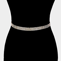 5Lines Crystal Rhinestone Pave Chain Belt