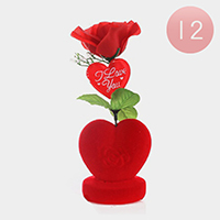 12PCS - I Love You Valentine's Heart Flower Display Stands