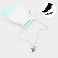 Pearl Shell Charm Detail Anklet