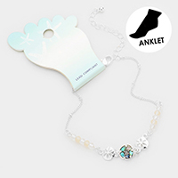 Abalone Sand Dollar Bead Detailed Anklet