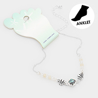Abalone Shell Bead Detailed Anklet