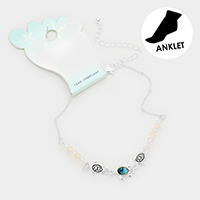 Abalone Turtle Bead Detailed Anklet