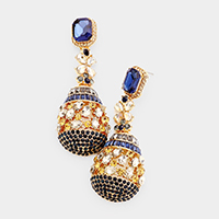 Crystal Bell evening earrings