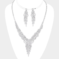 Crystal Rhinestone Pave Collar Necklace