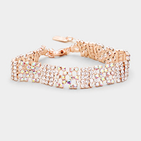 Rhinestone Pave Bubble Evening Bracelet