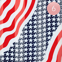 6PCS - Satin Stripe American Flag Scarf