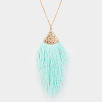 Tassel Fringe Pendant Long Necklace