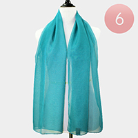 6PCS - Solid Silk Feel Scarf