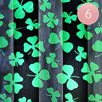 6PCS - Satin Striped St. Patrick's day Clover Scarf
