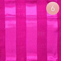6PCS - Satin Striped Print Scarf