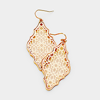 Moroccan Filigree Metal Earrings