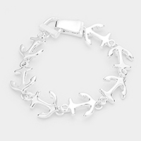 Metal Anchor Link Magnetic Bracelet