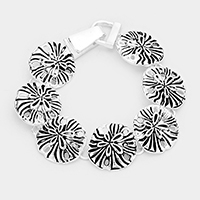 Metal Sand Dollar Linked Magnetic Bracelet