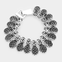 Metal Pine Apple Linked Magnetic Bracelet