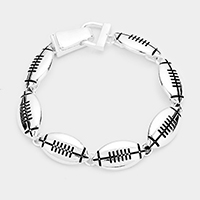 Metal Football Linked Magnetic Bracelet