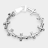 Metal Cross Linked Magnetic Bracelet