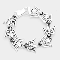 Metal Angel Linked Magnetic Bracelet