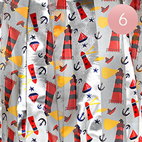 6PCS - Lighthouse Anchor Pattern Oblong Scarf