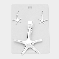 Metal Starfish Magnetic Pendant Set