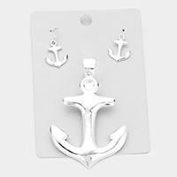 Metal Anchor Magnetic Pendant Set