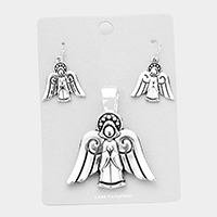 Metal Angel Magnetic Pendant Set
