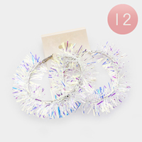12Pairs - Hologram Hoop Earrings