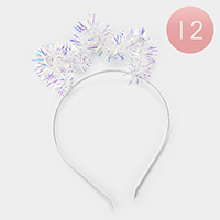 12PCS- Hologram Shimmery Headbands