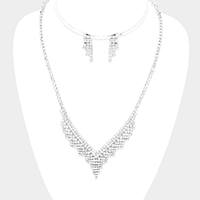 Pave Crystal Rhinestone Mini Necklace