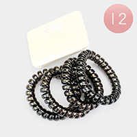 12 SETS OF 4 - Telephone Cord Hair Ties