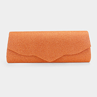 Shimmery Trapezoid Evening Clutch Bag