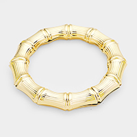 Metal Bamboo Bangle Bracelet