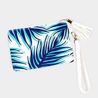 Tropical Leaf Wallet / Clutch Bag