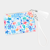 Sea Life Wallet / Clutch Bag