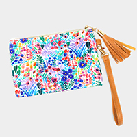Colorful Flower Wallet / Clutch Bag