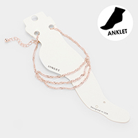 Triple Strand Metal Chain Anklet