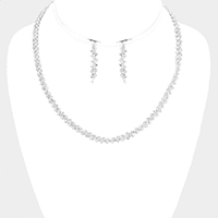 Pave Crystal Rhinestone Necklace
