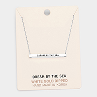 'Dream By the Sea' Horizontal Metal Bar Pendant Necklace