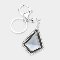 Crystal Pave Trim Rhombus Key Chain