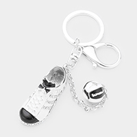 Crystal Bow Sneakers Ball Charm Key Chain
