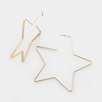 Star Wire Metal Earrings