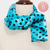 6PCS - Polka dot silk feel scarf